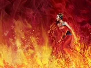fuego, mujer, pasión
