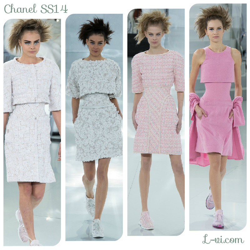 Chanel SS14: White, silver, light pink  L-vi.com