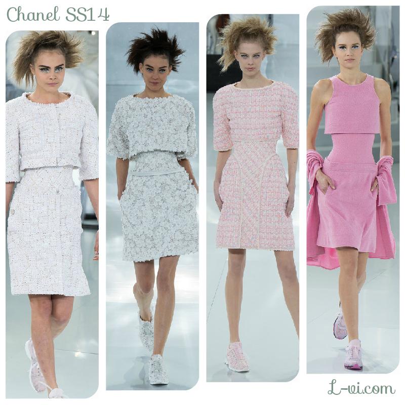 Chanel SS14: White, silver, light pink  L-vi.com