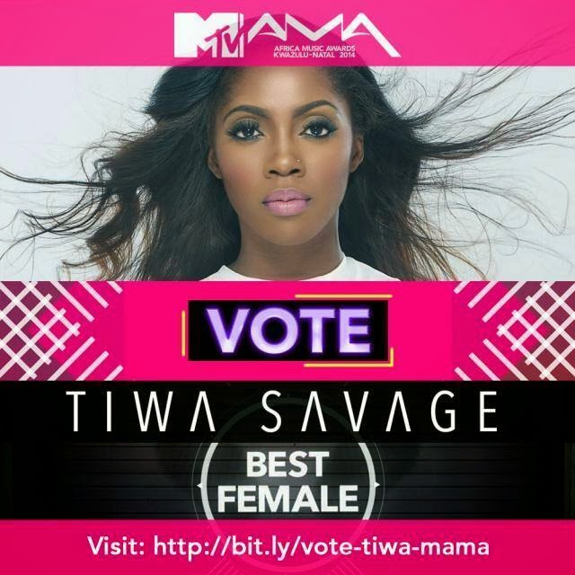 VOTING CONTINUES AT WWW.CHANNELO.. TV CLICK AWARDS AND VOTE TIWA SAVAGE #MOSTGIFTEDFEMALEVIDEO.. ALL THE FAMILY, FRIENDS FANS, WE LOVE HER SO MUCH..