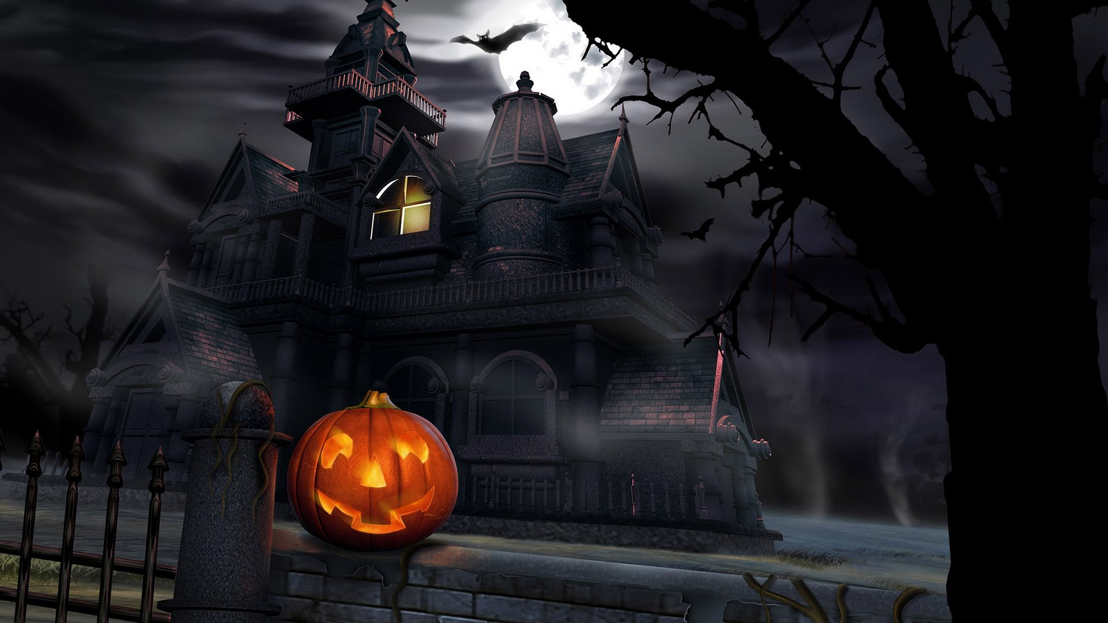 halloween scary animated desktop wallpaper | mega wallpapers