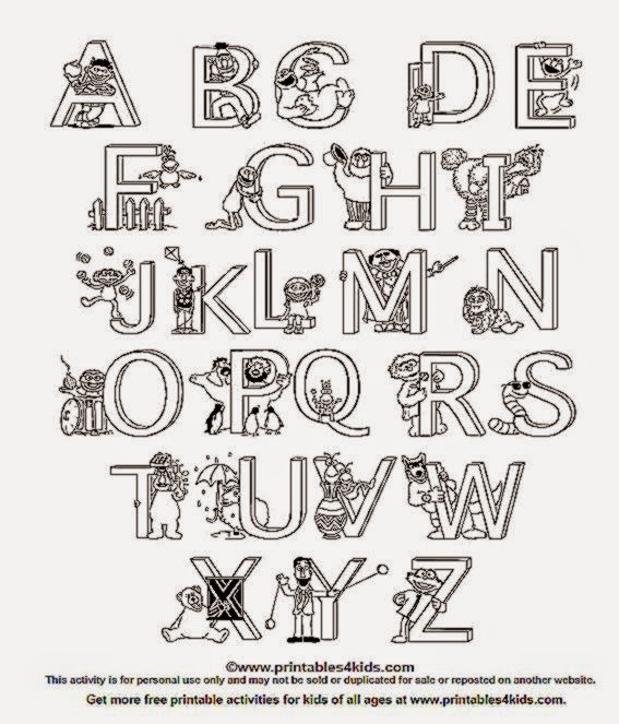 Spanish Alphabet Coloring Pages Printable : Free worksheets alphabet coloring math