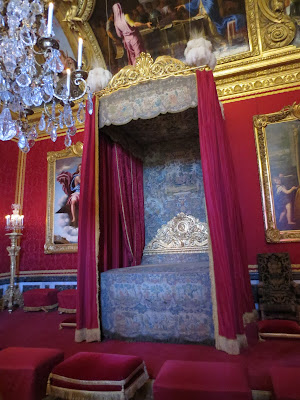 King Louis XVI's bedroom inside Le Chateau de Versailles, french for The Palace of Versailles, just outside Paris, France www.thebrighterwriter.blogspot.com