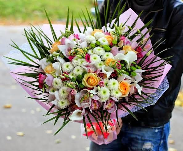 Торт на заказ букет цветов фото
