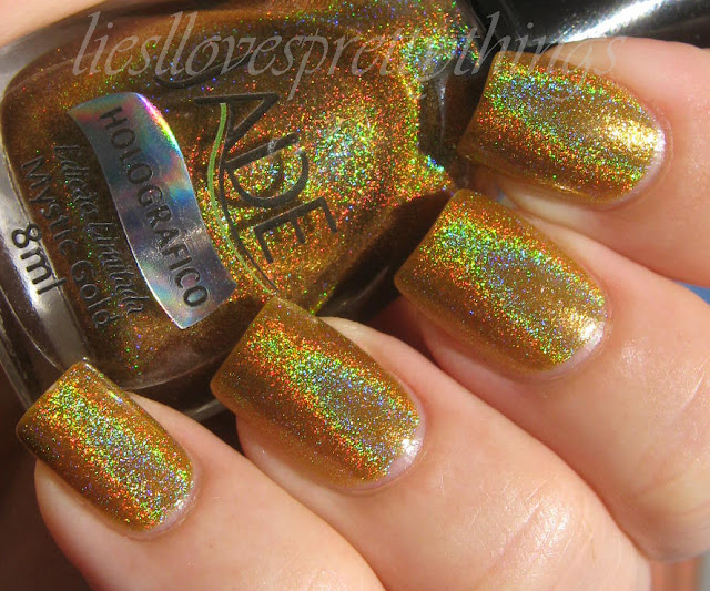 Jade Holographics Mystic Gold swatch and review