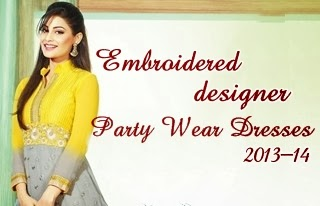 Embroidered Designer Party Wear Dresses