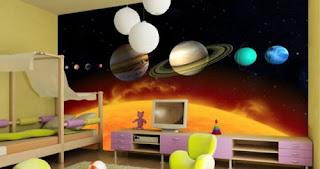 dormitorio tema universo