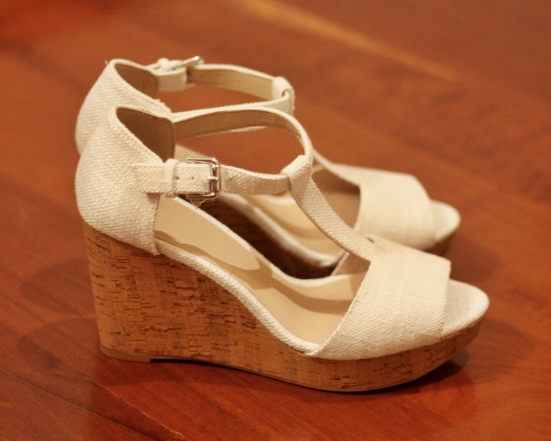 zara white wedges