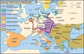 HORSINGTON SMYTHE AT LARGE THE TREATY OF WESTPHALIA - Europe map 1648 westphalia