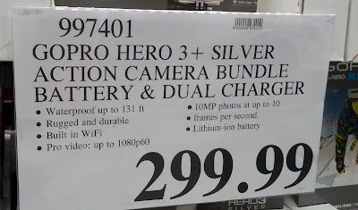 Deal for the GoPro Hero 3+ Silver Action Camera Bundle with Battery and Dual Charger at Costco
