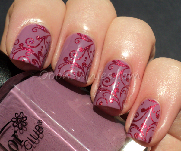 Color Club Uptown Girl with A England Rose Bower and Bundle Monster plate 314