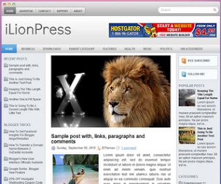 iLionPress Blogger Template
