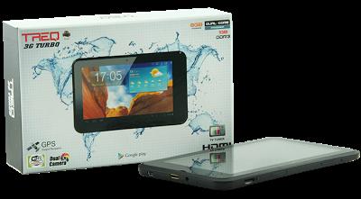 Treq 3G Turbo Dual Core; Tablet Lokal Dual SIM Card Harga 1 Jutaan