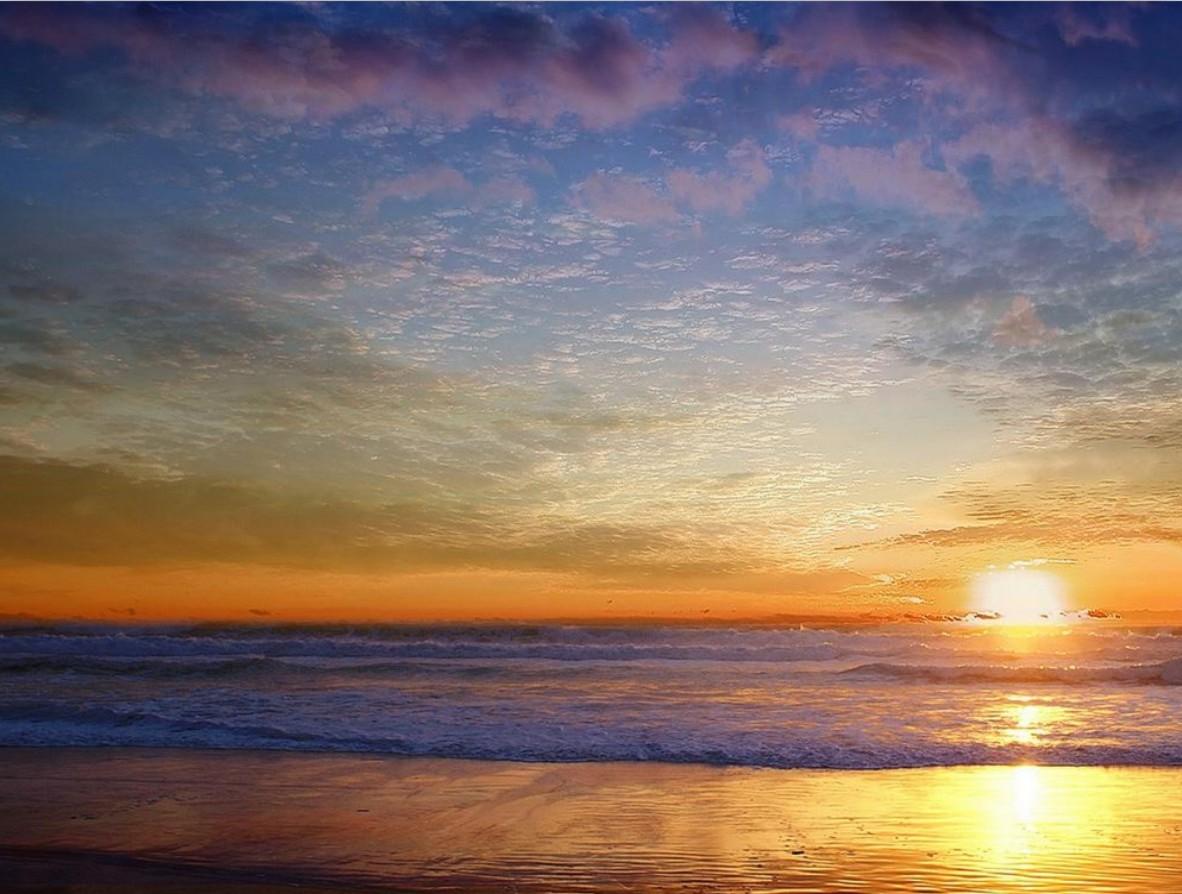 Im genes arte pinturas paisaje playa en atardecer - Cuadros de atardeceres ...
