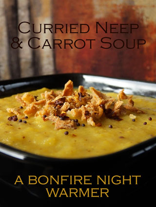 curried neep and carrot soup