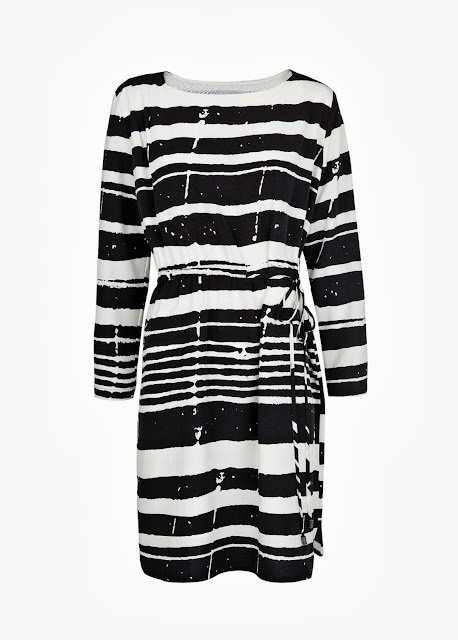 striped satin dress