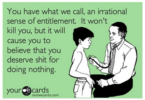 Sense of Self-Entitlement