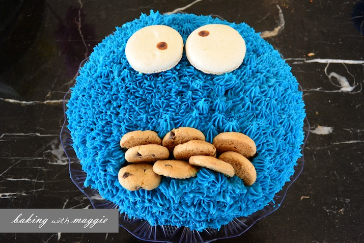 Cookie Monster Cake Baking With Maggie