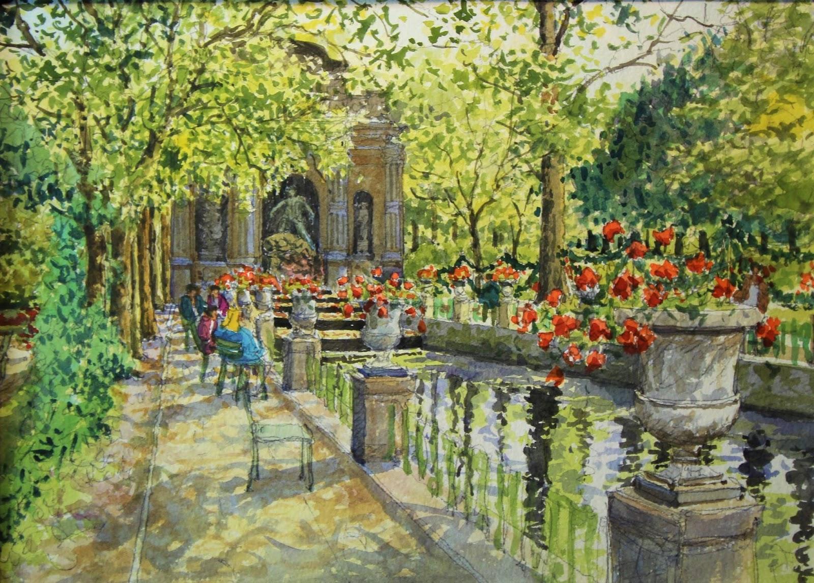 Jean Charles Decoudun La fontaine M C Adicis du jardin du Luxembourg