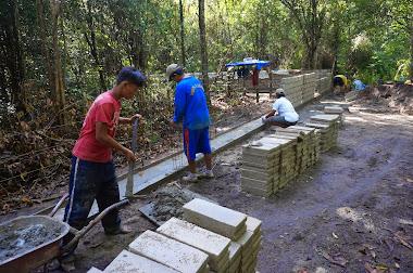 Construction du mur
