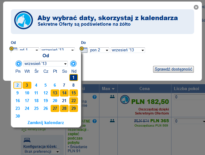 Sekretna Oferta Booking.com