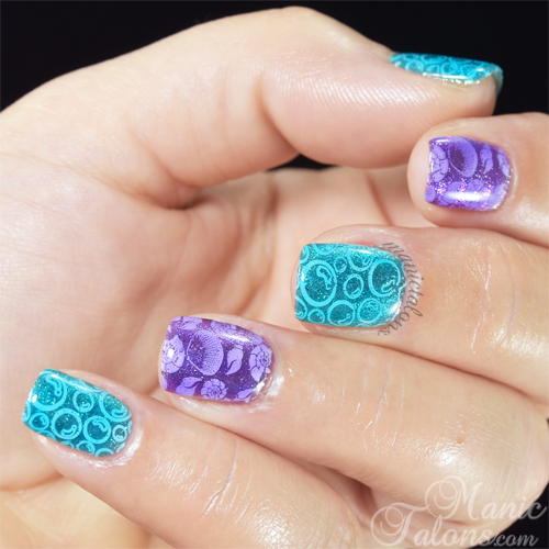Beachy Nail Art with BMC Mosaic Glass Sea You Clearly and Locked in Secrets