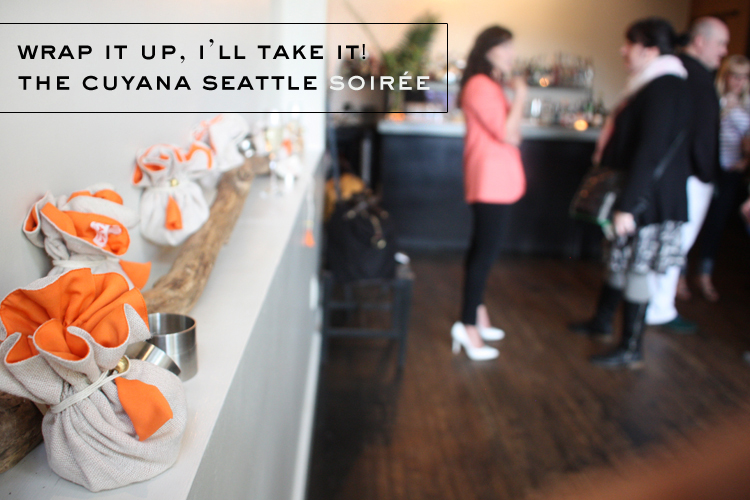 Wrap it up, I'll take it! The Cuyana Seattle Soirée