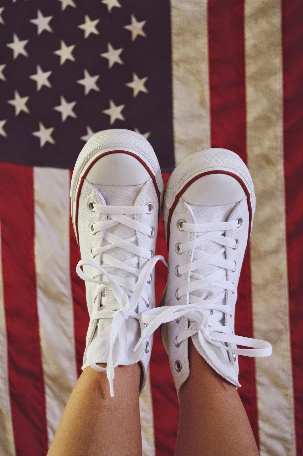 white high tops, flag, red, white and blue, stars and stripes