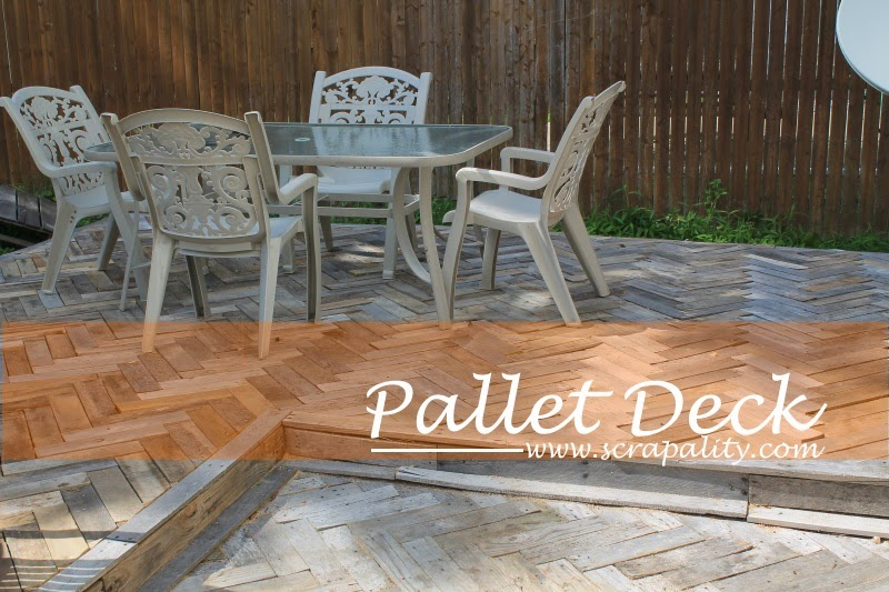 Scrapality shared her Two Level Pallet Deck featured at One More Time Events.com