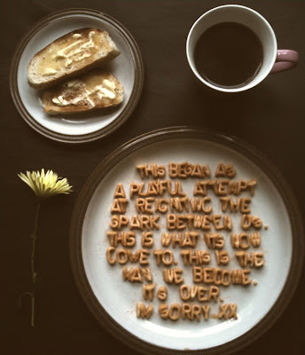 a message in a plate with cereal or alphabet soup letters