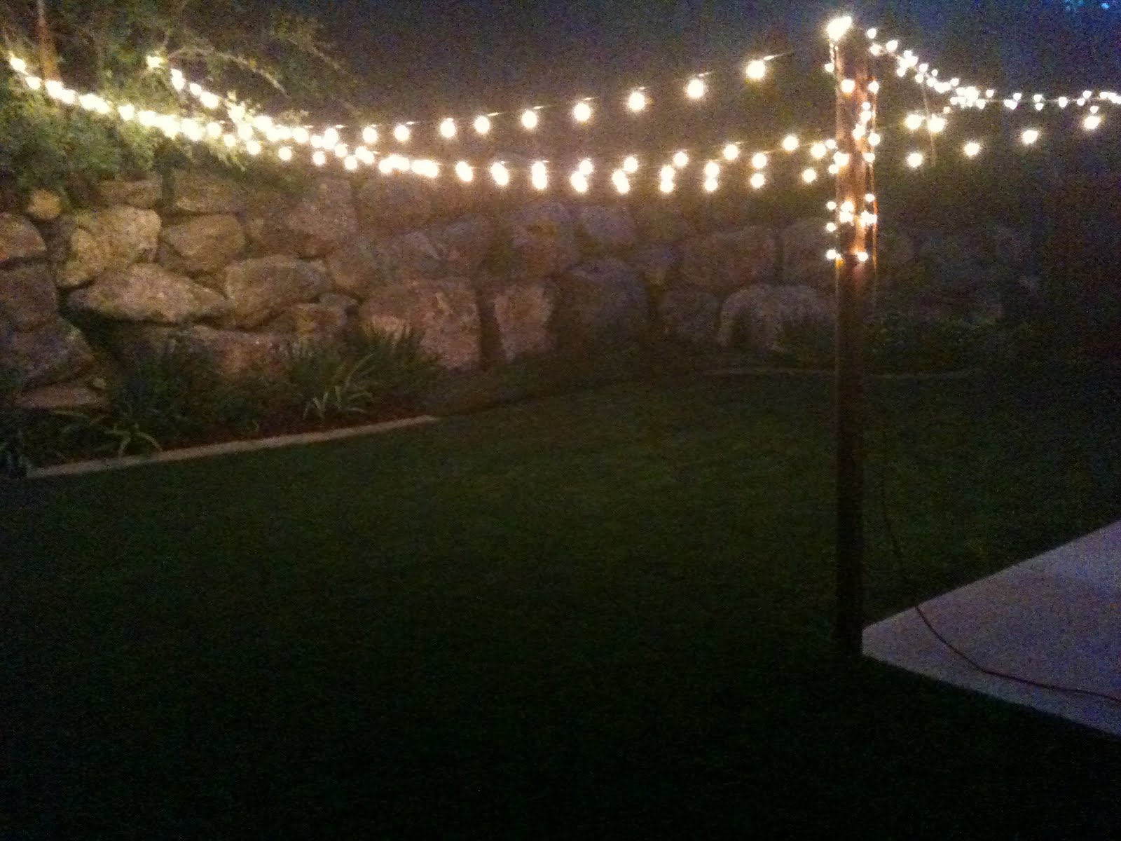 Do it yourself duo summer nights summer lights for Backyard with lights
