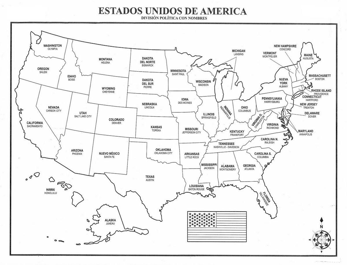 Mapa De Estados Unidos Con Nombre - Mapa de colorado usa