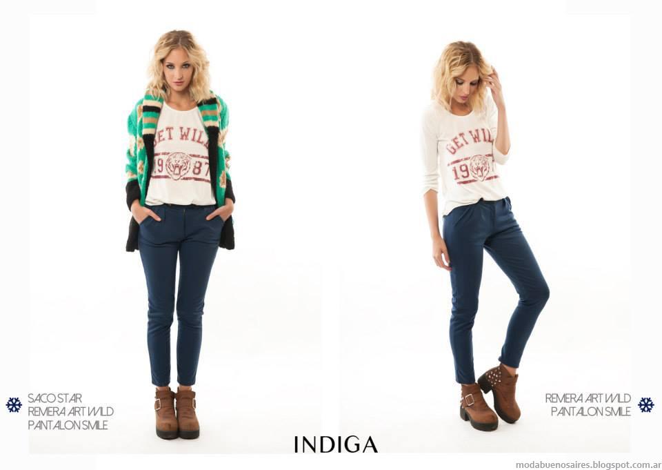 Ropa de moda 2014. Colección de la marca de moda en ropa de mujer INdiga otoño invierno 2014 Argentina.