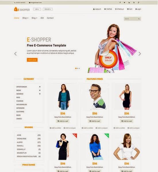E-Shopper – Best Free Ecommerce HTML Template