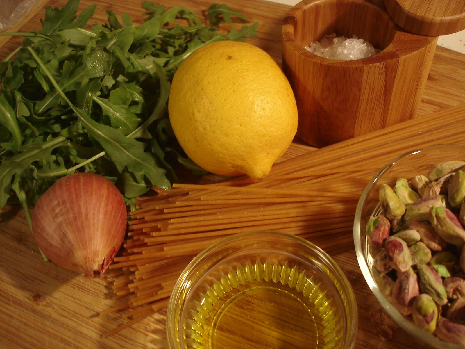 The Tiny Skillet: Whole Wheat Spaghetti with Lemon Arugula ...