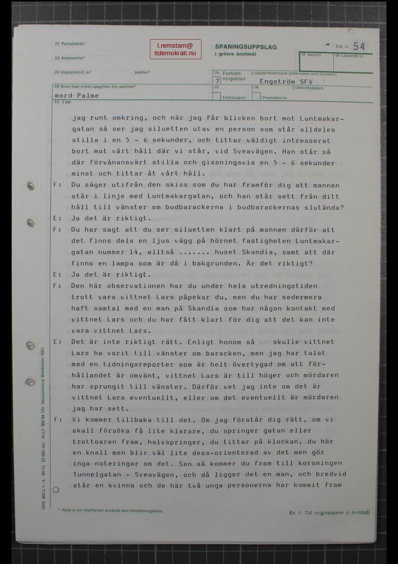 Stig Engström Palmemordet 12