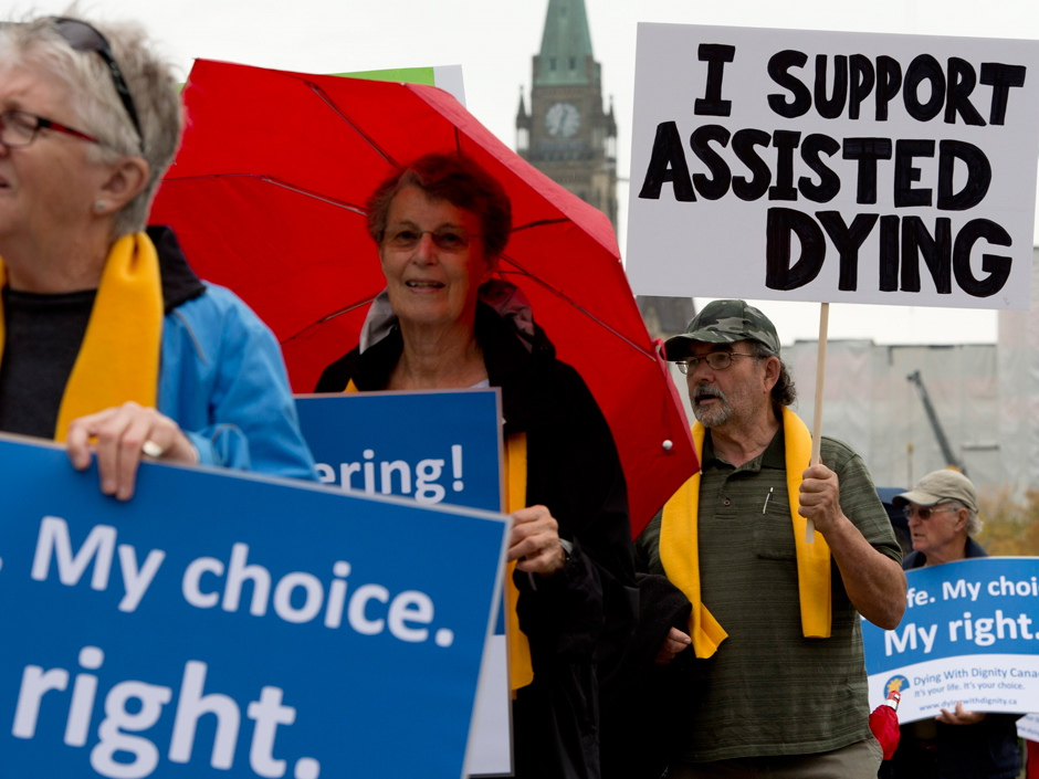 Demonstration: My Life. My Choice. My right. 'I support assisted dying'