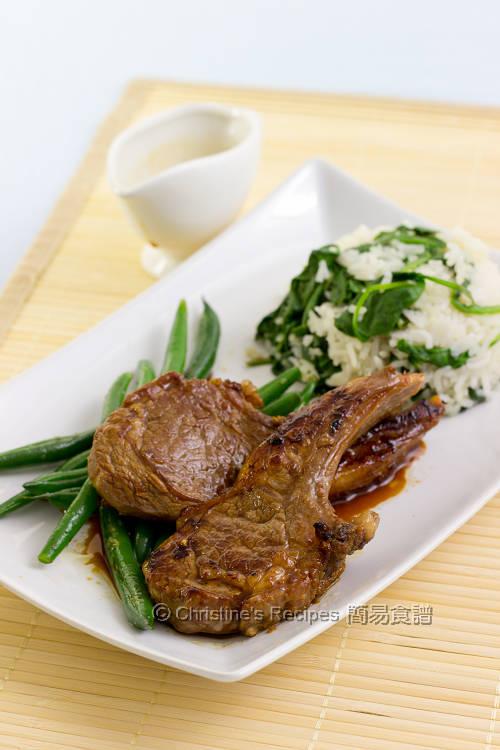 煎羊扒配菠菜飯 Pan-fried Lamb Cutlets with Spinach Rice01