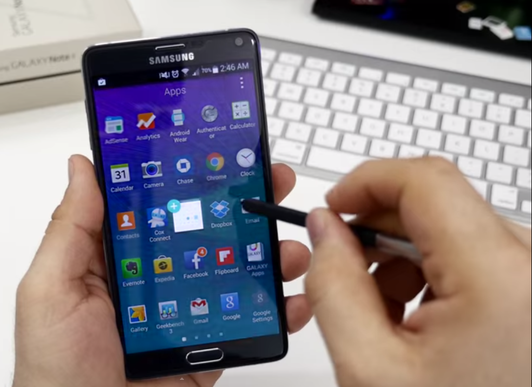 Samsung Galaxy Note 4:preloaded apps