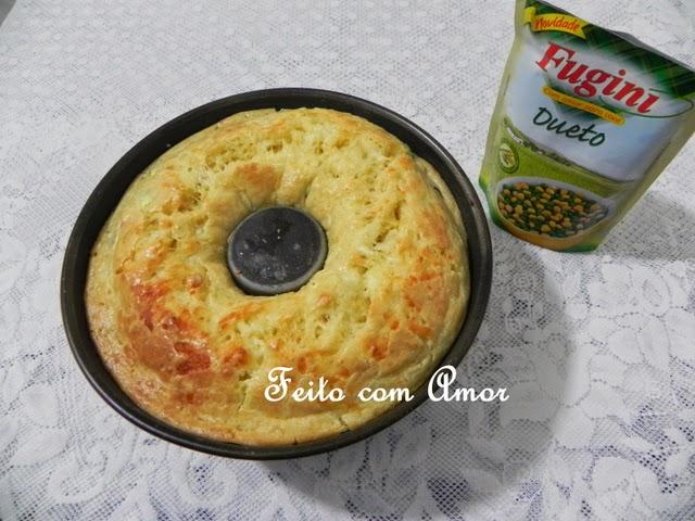 Bolo Salgado de Frios e Legumes delicioso, úmido e macio.