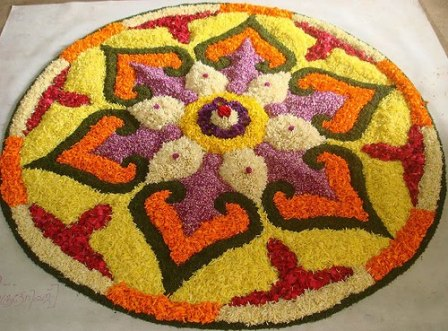 Indian rangoli designs diwali rangoli designs with for Floor rangoli design