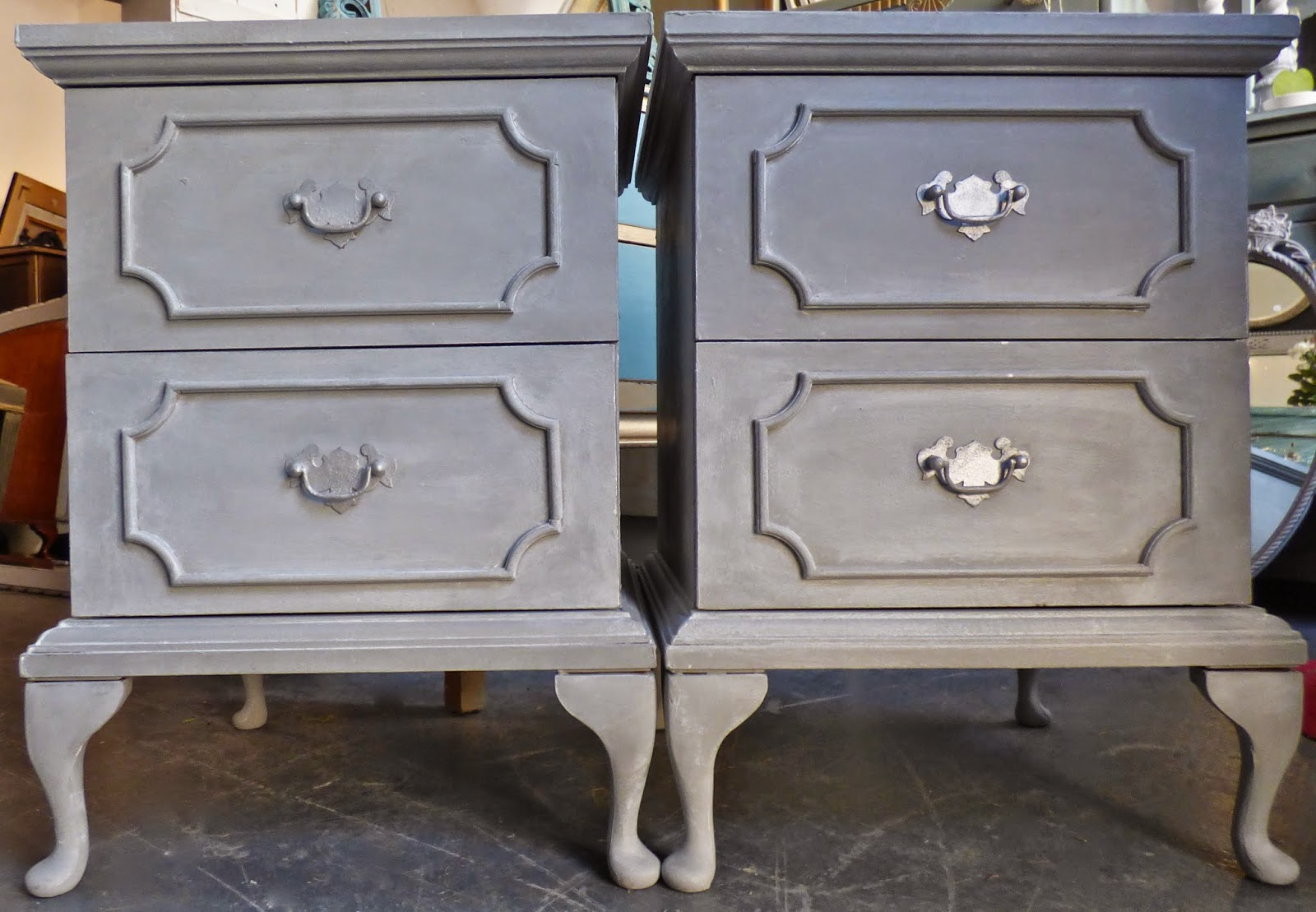 Chateau Grey Painted Bedside Cabinet