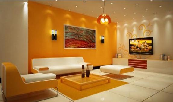 Gambar Interior Rumah Minimalis Cat Kombinasi Warna Orange   rumah ...