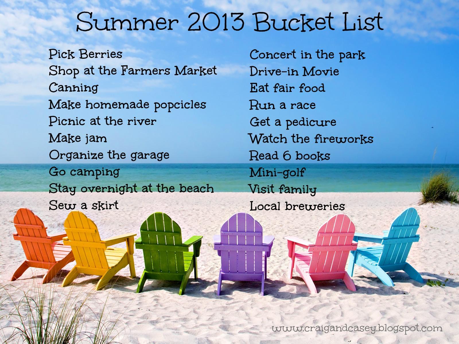 everyday adventures: summer- bucket list style