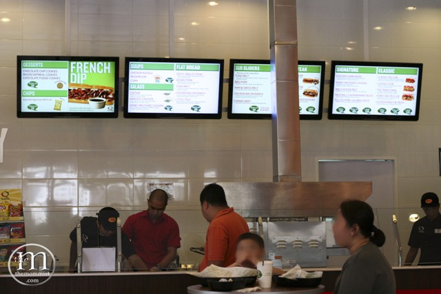 Quiznos counter