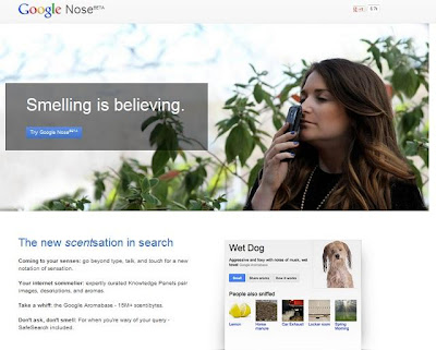 Google Nose, Smell, search engine