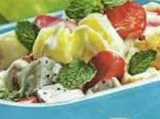resep praktis (mudah) salad buah yoghurt spesial (istimewa) enak, lezat