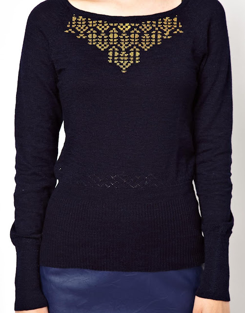 sessun navy jumper