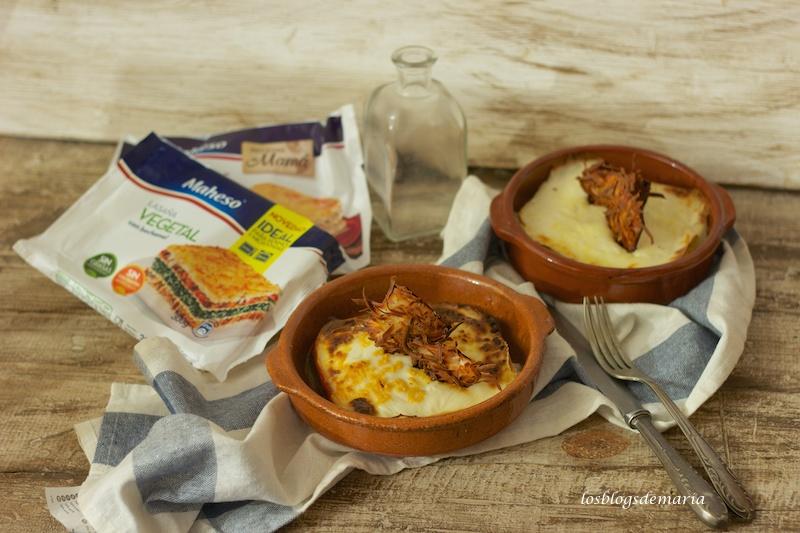 Crujientes de jamón y queso para lasañas maheso