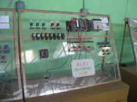 miniatur plc lampu huruf